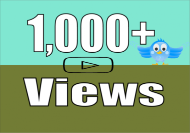 add Real 1,000+ Twitter Video Views