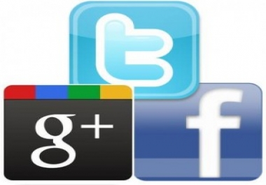 give you 200 Facebook Likes, 200 Twitter Followers and 200 Google +1