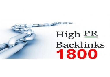 Create 1,800+High PR Backlinks For your Sites with Proofs