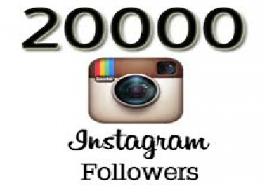 Give you 20,000+ REAL Instagram Followers