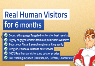 TARGETED real human Website TRAFFIC for 6 month