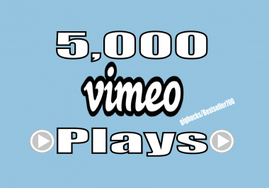 add 5,000+ Vimeo Video Plays