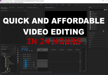 edit your video quickly, including green screen, caption, and more!