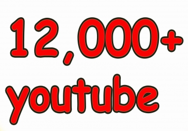 Give You High Quality 12,000+YOU TUBE views