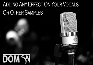 Add Any Effect On Your Vocals Or Other Samples