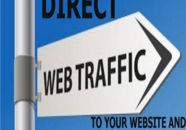 drive unlimited real traffic to your website for 1 month