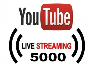 Provide 5000 Youtube Live Stream Views monetizable Real