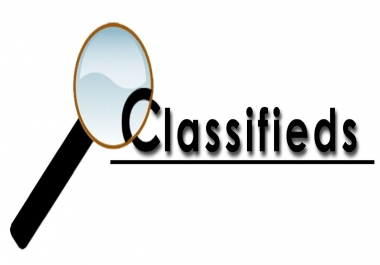 Provide 30 Classified Ads Submission
