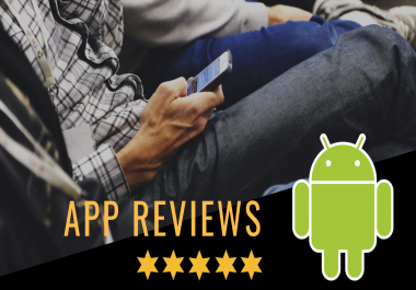 downlod your app and give 5 star rating from 3 real accounts