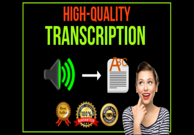 do audio transcription and do video transcription, will transcribe professionally in 24 Hours