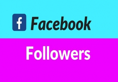 give 1,000+ Facebook Real and Active Followers