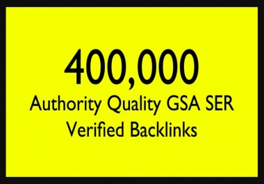 Give 400,000 Gsa Backlinks For Ranking Website