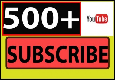 give you 500 Real YouTube subscribers