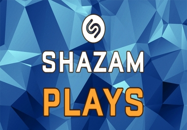 Provide you 10000 Shazam Plays