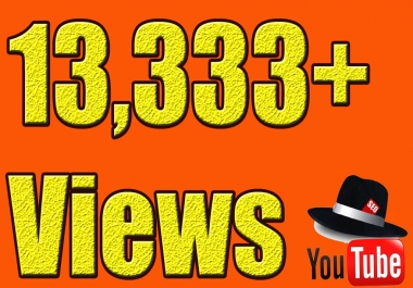 give you 13,333 YOUTUBE Views on your Video