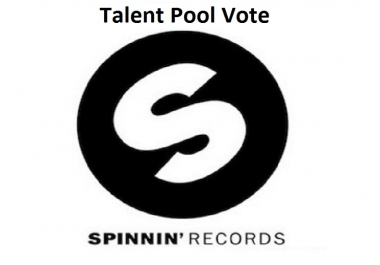 Get 100 Spinnin records talent pool votes on your contest