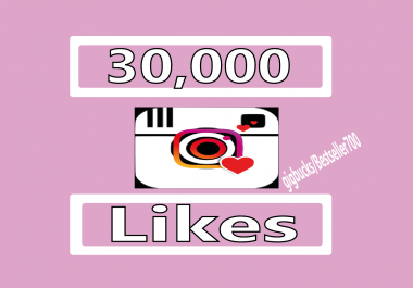 Add 30,000 Instagram Photo/Post Likes