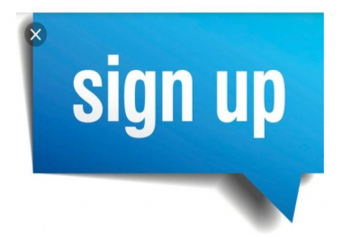 Provide you 25 USA people signups with Different ip