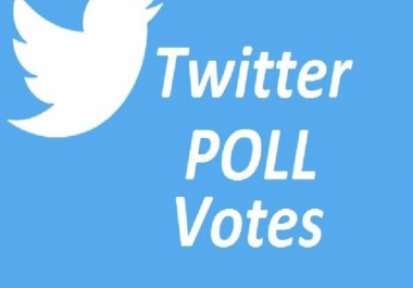 Buy you 200 Real user Twitter Poll Votes