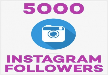 provide 5,000 followers+2000 like for your instgram account