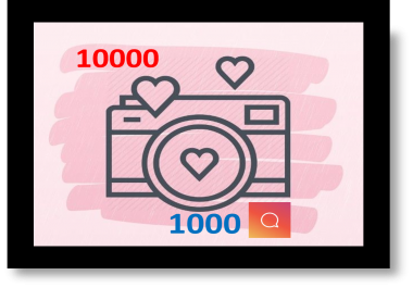 give you 10000 instgram post likes + 1000 comment