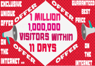 Provide you 1 Million 1,000,000 Visitors Traffic Within 11 Days