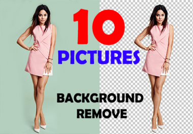 remove BACKGROUND of 10 images professionally