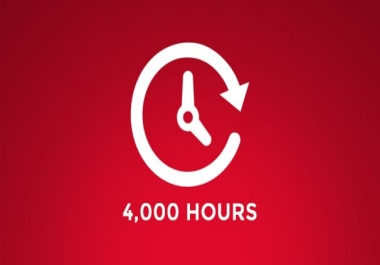 Add 4k hours YouTube Watchtime Boost [ HQ ] [Non Drop]