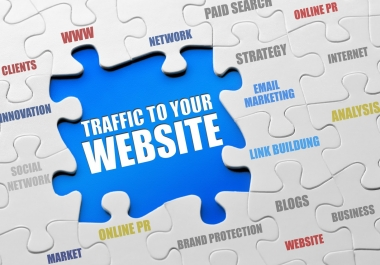 drive real human TRAFFIC to any website for 1 week