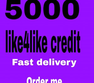 give you 5k like4like  points  fast delivery