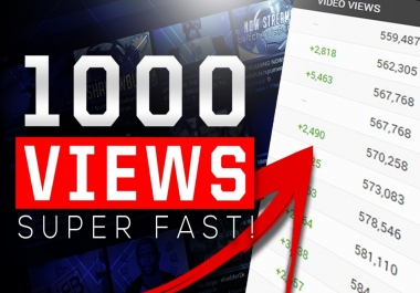 GIVE 500 YOUTUBE VIEWS WITH FAST DELIVERY
