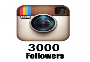 give you 3000 Instagram real active followers