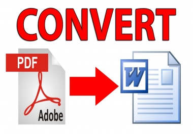 convert PDF to word text