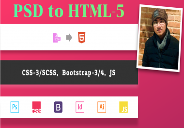 Convert Psd To Responsive Html, Sketch To Html, Xd To Html