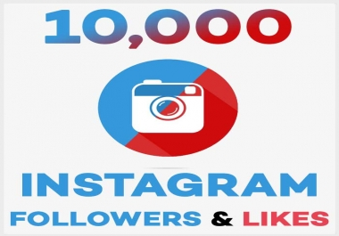 Add Pack 10,000+ Instagram Followers with 10,000+ Instagram Likes - Real and Non Drop