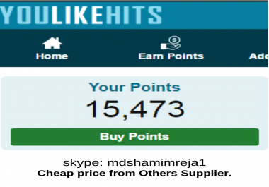 Give  10,000 Youlikehits points in 1 Account