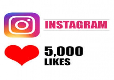 Provide you 5,000 Instagram LIKES extra fast delivery for