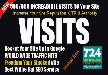 Send 50k Traffic visitors from social networks Low Bounce rate