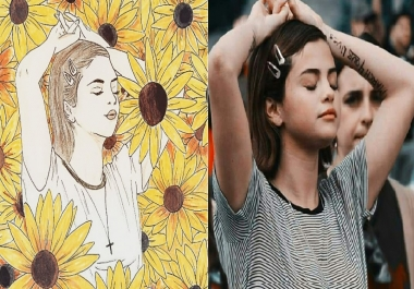 draw an artsy portrait of your picture