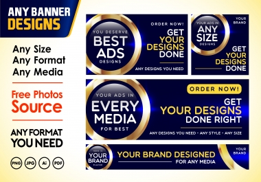 Create banner design for any purpose
