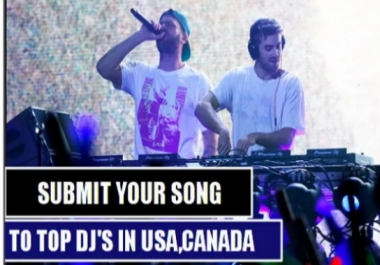 Send Your Song To 8000 Top USA Djs
