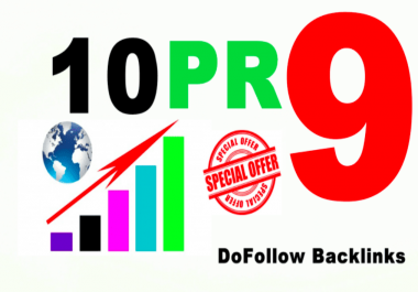 Create Manually create 10 backlinks pr9 DA70