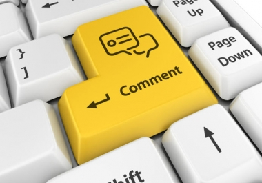 Add 50+ comments to a post or photo on your social media