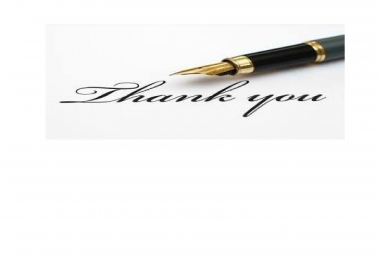 write a good thank you letter