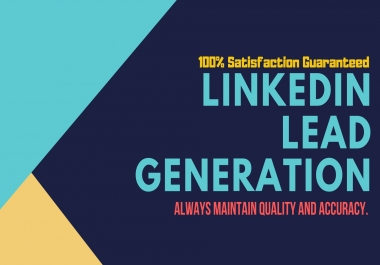 provide linkedin lead, data mining, b2b leads and email gathering