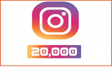Add 20,000 Instagram followers real and permanent
