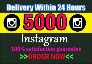 Giving 5000+ Instagram permanent Followers