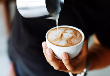 Put Your Logo, Text Or Picture In A Coffee Cup With Coffee Powder