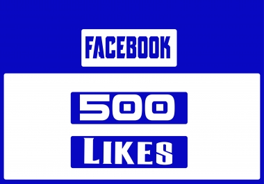 provide 500 facebook page  likes