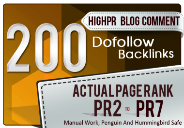 Do 200 High Da Pa Blog Comment With Low Obl Links
